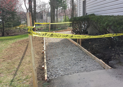 hardscape walkway poured concrete