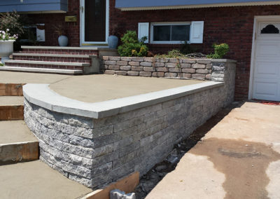 Steps Retaining wall phase 2
