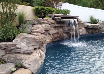 pool wall fountain landscaping orangeburg