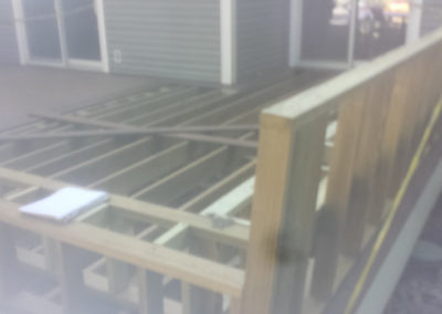 Deck during construction rockland county