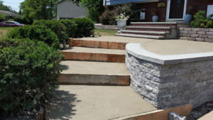 Steps retaining wall rockland county